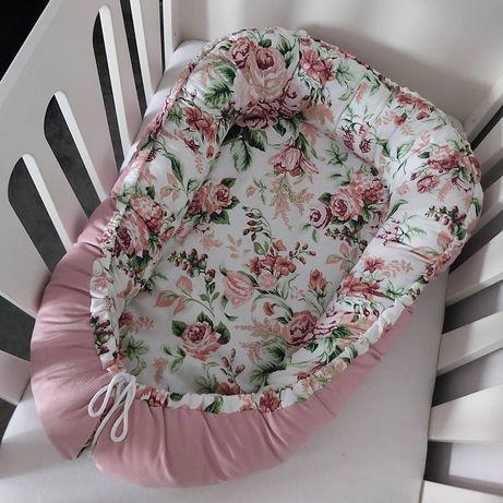 Nowy! Kokon gniazdo niemowlęce velvet bawełna