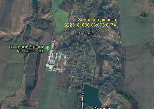 земельна ділянка 11.6 соток в с. Верем'я