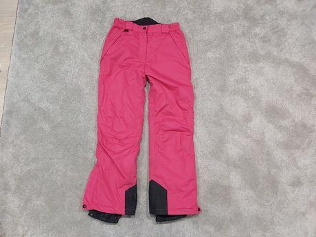 Spodnie narciarskie snowbowardowe różowe Pocopiano 12 lat 152 cm