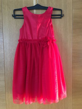 Elegancka czerwona sukienka dziewczęca H&M