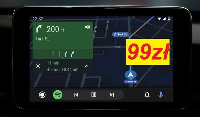 Android Auto CarPlay Mazda 2 3 6 CX-3 CX-5 CX-9  GOOGLE MAPS NAWIGACJA