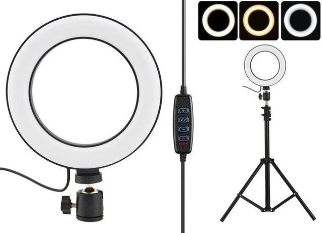 """Кольцевая LED лампа диаметром SMN-12"""" (30 см) с пультом и зеркалом"""
