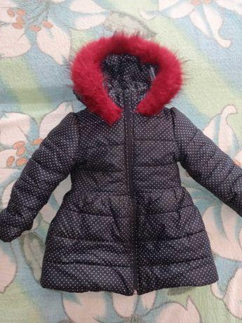 Самая теплая и красивая курточка пальто с бантом на 1,2,3 года