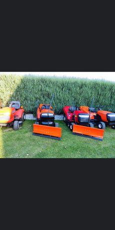 Traktorki kosiarki Husqvarna z pługami