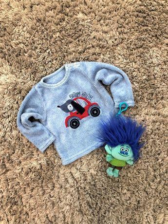 Кофта флиска толстовка свитер голубая EARLY DAYS 12-18 мес.