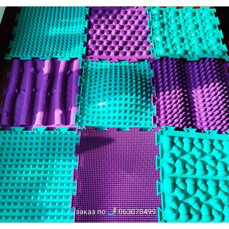 Оригинал! Массажный модульный коврик-пазл ОРТОДОН на 9 модулей 75*75см