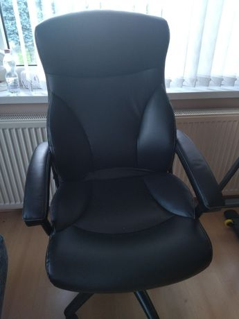 Fotel gamingowy skórzany