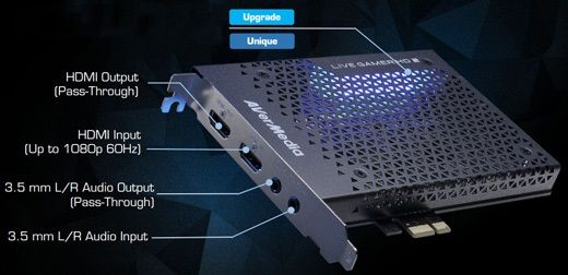 AvermediaLiveGamer HD2-karta do streamingu.Dysk ssd 2tb,1tb,512,256gb
