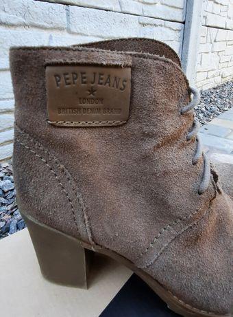 Ботинки кожаные натальная замш 39