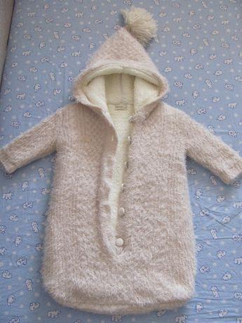 Теплий конверт для малюка 0-9 місяців