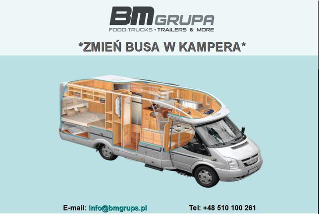 Zabudowy specjalne - przeróbka busów, vanów na kampery