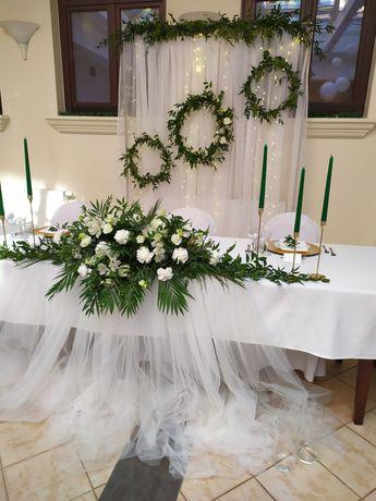 Dekoracje ślubne, sali, kościoła