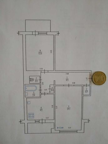 2к квартира на Садах, окремі кімнати!