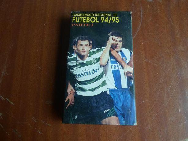 cassete vhs do campeonato nacional de futebol 94/95