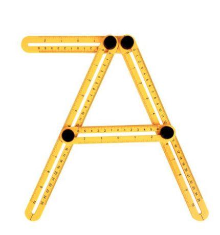 Ferramenta de ângulos com escala métrica