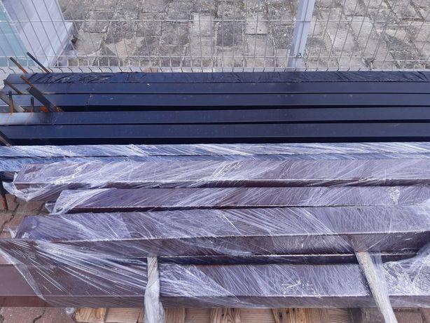 Słupek ogrodzeniowy ocynkowany i malowany proszkowo 100x100x3 do bram