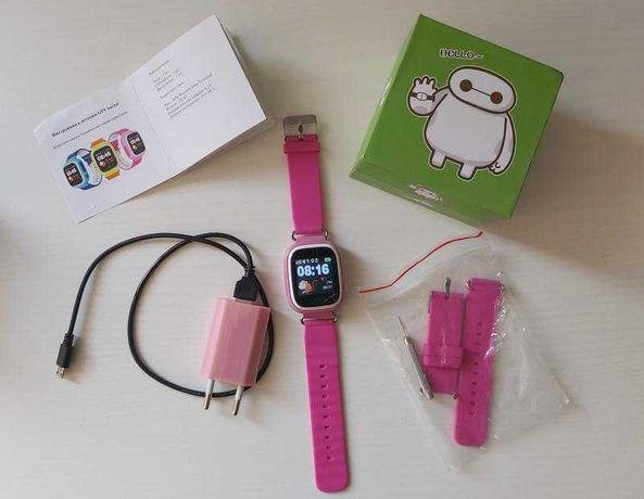 Smart baby watch gps wifi +подарки детские умные часы q90(100) фитнес