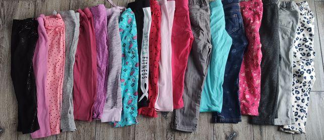 Zestaw. Paka spodni 19 sztuk 3/4 lata rozmiar 92- 104