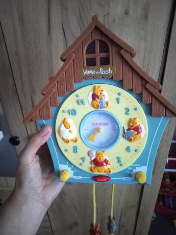 Zegar, ozdoba dziecięcego pokoju, Kubuś Puchatek