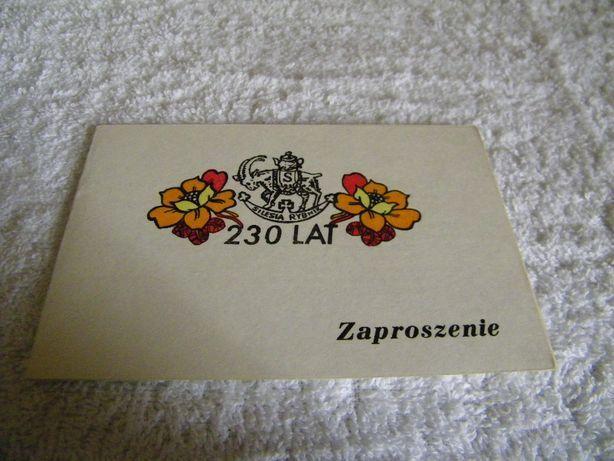 Huta Silesia - Zaproszenie z 1983r Rybnik - image 1