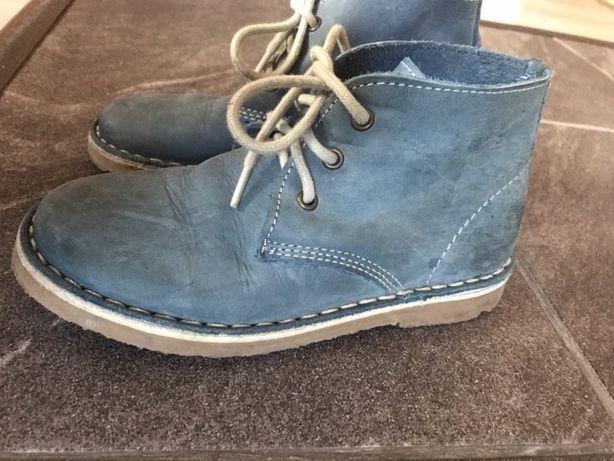 Buty na wiosnę jesień skórzane botki
