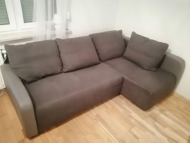 Narożnik sofa kanapa z funkcja spania spanie łóżko