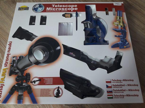 Zestaw edukacyjny dla dziecka luneta + mikroskop