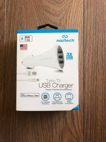 Ładowarka NAZTECH T3 USB Charger (dedykowana dla iPhone iPad Apple))