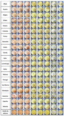 Colecção Moedas Euro - 289 Moedas