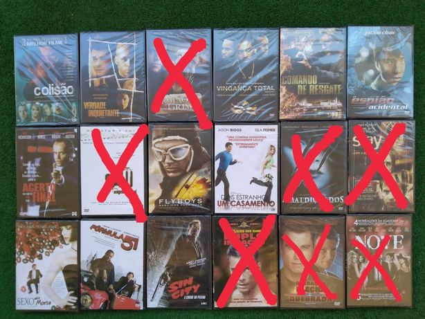 Lote DVD's clássicos novos