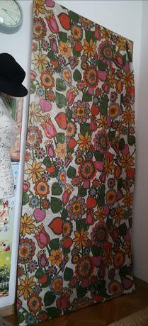 Zasłony lniane design vintage retro kwiaty piękne