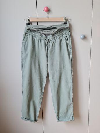 Spodnie ciążowe z lnem z h&m