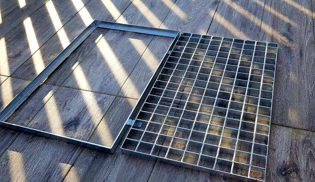 POLSKI PRODUCENT Wycieraczka metalowa, KRATA 50x100cm ocynkowana FV