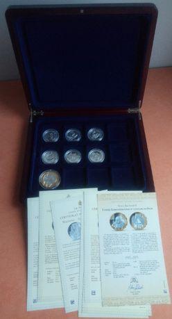 Srebrny zestaw 7 numizmatów – JAN PAWEŁ II