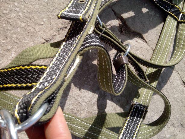 кантур кантарка уздечка вуздечка ширина 30 мм чорно-зелена брезентова