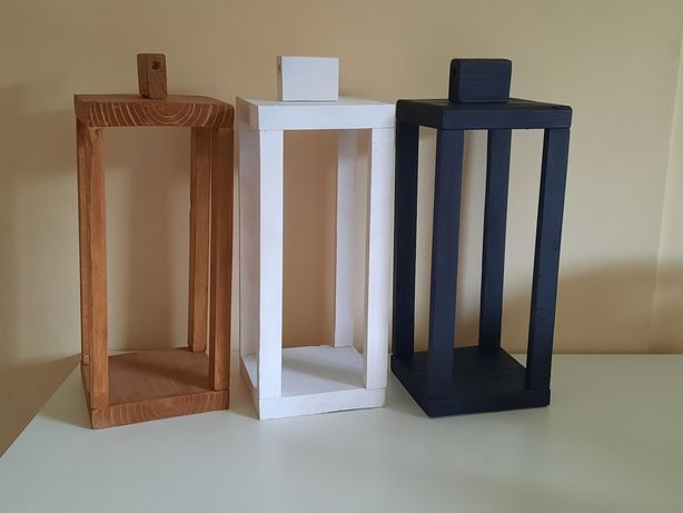 Lampion drewniany, dekoracja, stroik, dom, cmentarz