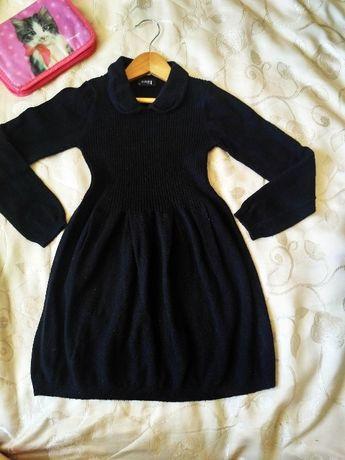 Теплое красивое школьное платье сукня Next размер 116-122 первый класс
