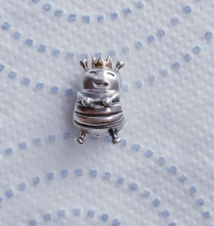 Pszczółka pszczoła z korona Pandora charms charm tt złoto srebro