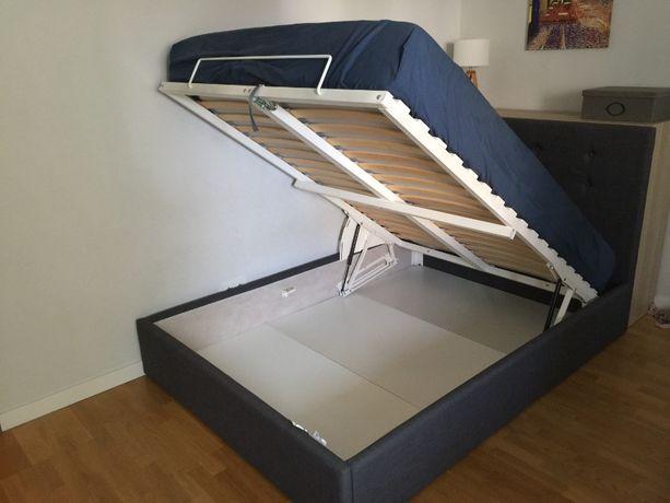 Łóżko + materac MYRBACKA z pojemnikiem na pościel GVARV IKEA 160 x 20