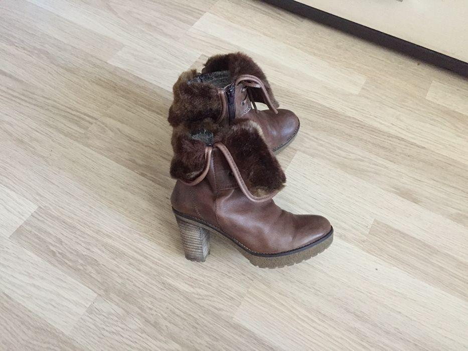 Ботинки сапоги кожаные зимние Eleven Shoes 37 размер Драбов - изображение 1