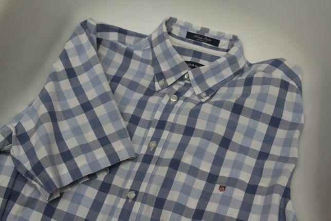 Gant рр M Melange Poplin рубашка из хлопка