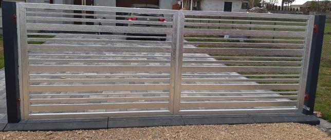 Bramy Przesuwne Ogrodzenia nowoczesne Aluminiowe