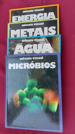 Coleção de 4 livros de ciência visuai