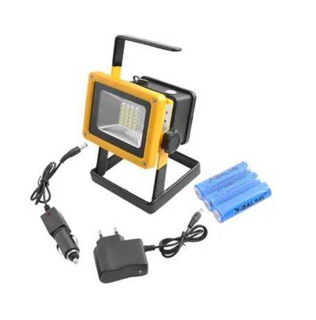 Аккумуляторный переносной LED прожектор ручной прожектор  фонарь