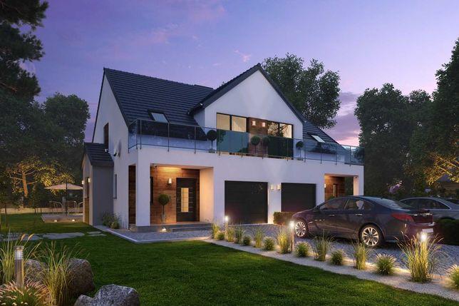 Dom bliźniak z ogrodem i garażem. Ładna okolica!