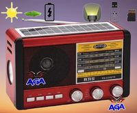 Radio Fm Przenośne Solar USB Akumulator USB SD Latarka