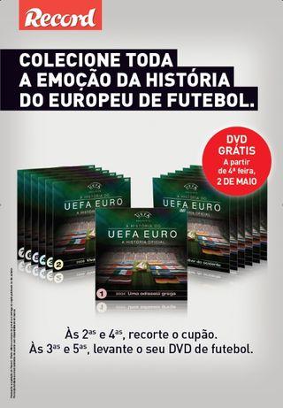A História do UEFA EURO - A História Oficial - 13 DVDs c/ caixa arquiv