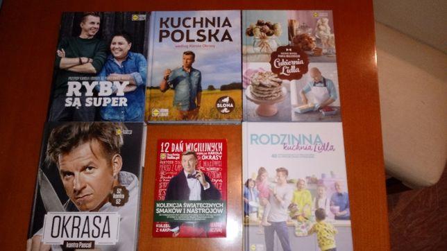 Książki kucharskie 5 sztuk - Kuchnia LIDL + CD kolędy gratis.NOWE