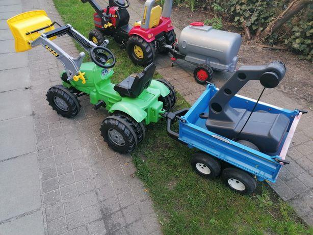 Traktor na pedaly rolly toys deutz-fahr podwójne koła z tyłu  duży
