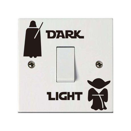 Autocolantes vinil Star Wars para interruptor luz - ver outros